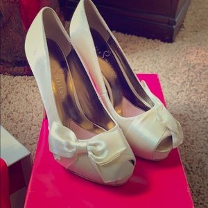Paris Hilton Destiny Formal Satin Heels